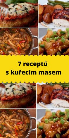 Czech Recipes, Poultry, Chicken Recipes, Food And Drink, Menu, Cooking, Meat, Essen, Menu Board Design