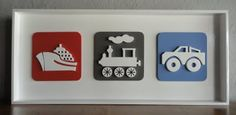 Cute idea for London's room.  Could do a train, truck, plane, bus, etc.