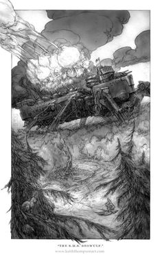 THE S.M.S. BEOWULF  Illustration from Leviathan by Scott Westerfeld.