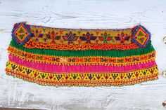 gran parche bordado india abalorios cuenta etnico por azulcasinegro