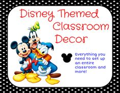 What is more magical than Mickey Mouse and Donald Duck in your classroom?  This packet has everything to decorate your classroom and so much more.  Simply print, cut out and hang up!This set is very similar to my other Disney Class decor, the main differences are the graphics used.