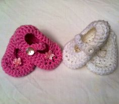 Chrocheted baby bootie with strap and by TheresaMcMurrough on Etsy, $10.00