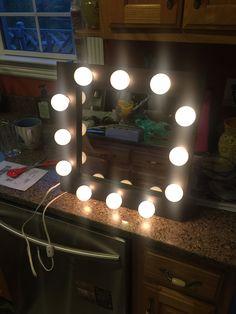 https://flic.kr/p/PvdXeV | Heather's Custom Size 16x16 Lighted Mirror | Mirror Made By: WoodUBeMine Mirror Shop  Looks Great!!  :)