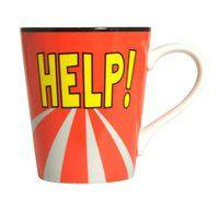 Kaffeebecher Help! ♫♪ ☕ www.musiker-geschenke.com/Tassen