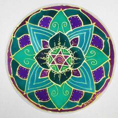 Heart Chakra Mandalamandala art chakra art by HeavenOnEarthSilks, $32.00