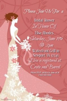 Wedding Poem Template Wedding Anniversary Save The Date Bridal - Bridal shower flyer template