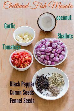 True authentic Tamilnadu Chettinad vanjaram Meen Kuzhambu/fish curry recipe from a karaikudi kitchen with step by step pictures. Veg Recipes, Curry Recipes, Seafood Recipes, Indian Food Recipes, Vegetarian Recipes, Cooking Recipes, African Recipes, Masala Powder Recipe, Gourmet