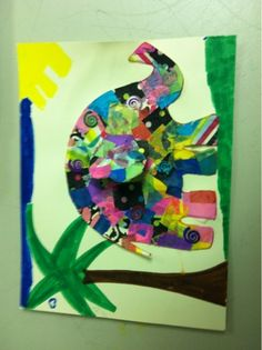 Elmer the Elephant - wallpaper, fabric or colored tissue squares