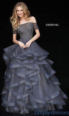 a very nice grey dress