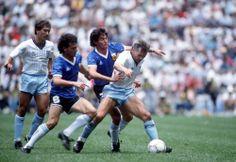 Jorge Luis Burruchaga is an Argentine, here seen with German Defenders in World Cup.