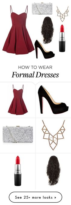 """Formal Party"" by miajoseph123 on Polyvore featuring Glamorous, Christian Louboutin, Chicnova Fashion and MAC Cosmetics"