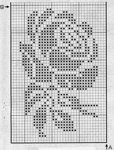 Filet Crochet Charts, Crochet Cross, Crochet Diagram, Crochet Stitches Patterns, Doily Patterns, Crochet Home, Thread Crochet, Crochet Motif, Crochet Doilies