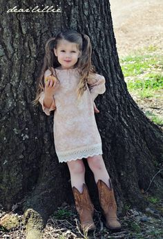 Pillowcase dress and boots