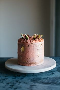 Pistachio Cake with Rosewater Buttercream