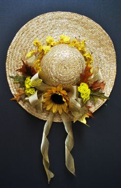 A.C. Moore Fall 2012 Floral: Straw Hat Wreath