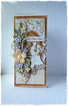 Quilling Ideas, Quilling Cards, Scrapbook Cards, Scrapbooking, Quilled Creations, Valentine Cards, Atv, Envelopes, Wedding Cards