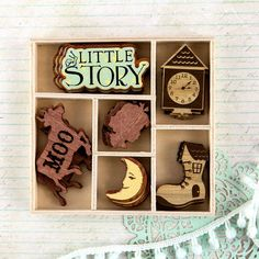 Bedtime Story: We think these will be some of your favorite Wood Icons ever! With moons, shoe-houses, jumping cows, and more, they will add childhood whimsy to your projects. #579531 #bedtimestory #prima #CHAwinter2015