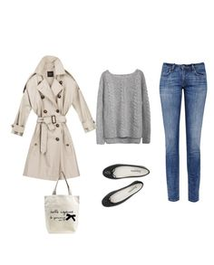 """Sans titre #95"" by unejeunedemoiselle ❤ liked on Polyvore featuring мода, Repetto и MiH Jeans"