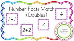 Number Fact Match up (Doubles) is a resource to help your students learn doubles number facts.Included in this resource are number cards for the doubles to 20. The cards can be used for independent use as a matching activity, or as a group memory game or go fish.Cut and paste for single use, or laminate to make the cards reusable.Great for maths centers!I use this resource within my own classroom for learners to consolidate their knowledge of doubles after explicit teaching.Please direct any…