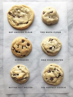 All the ways to mess up a cookie.