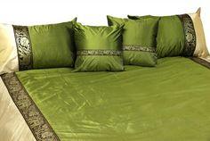 Комбинированное с тесьмой 2 цвета на покрывале и подушках