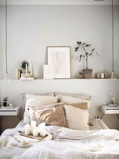 Elegant Home Interior schlafzimmerideen diy schlafzimmerdesign schlafzimmereinrichten bettvorsprung 294563631880749612 - 形状によるリビングルームの装飾 - Cozy Small Bedroom Decor, Cozy Small Bedrooms, Small Master Bedroom, Cozy Bedroom, Luxurious Bedrooms, Modern Bedroom, Girls Bedroom, Scandi Bedroom, Decorating Small Rooms