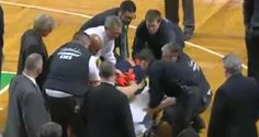 Video: New Orleans Pelicans Ryan Anderson leaves court on a stretcher