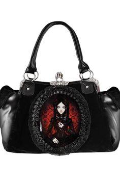 Lace Frame Red Doll Handbag, £32.99