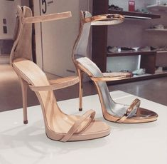 Sometimes there's nothing sexier than a nude, barely-there-strappy stiletto. Chanel