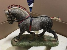 BORDER FINE ARTS Percheron Supreme Champion STALLION Horse L160D | eBay
