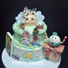 Nursery Rhyme theme shower cake