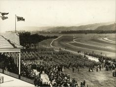 Trentham racecourse, ca. troops assembled in front of the main stand. The Hutt, City Library, Anzac Day, World War One, Old Pictures, Troops, New Zealand, Maine, History