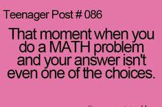 Well..... I am kinda bad at math.....