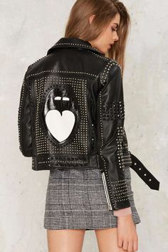 Nasty Gal Mouth Off Leather Moto Jacket | Shop Clothes at Nasty Gal!