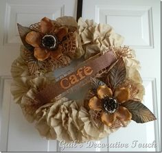 perfect!  coffee filter wreath