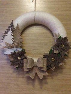 Ghirlanda stella di Natale pini