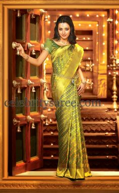 Pothys proudly presents the best destination for Silk Sarees online shopping. Buy Pure silk sarees, wedding silk sarees online and make your D - days festive. Absolute fashions including dresses for women, Men and Kids. Indian Designer Sarees, Indian Silk Sarees, Indian Actress Photos, Beautiful Indian Actress, South Indian Bride, Indian Bridal, Silk Sarees Online Shopping, Bridal Sari, Silk Saree Kanchipuram