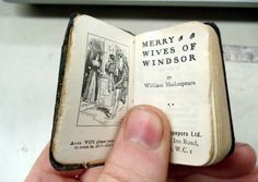 Tiny antiquarian book. This made me smile!