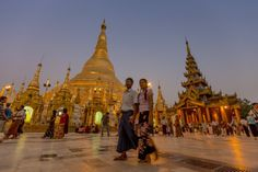 <p>One of Buddhism's most sacred sites, the 325ft zedi here is adorned with 27 metric tons of gold leaf, along with thousands of diamonds and other...