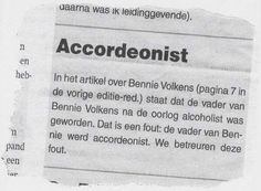 Foutje bedankt. A mistake in the newspaper