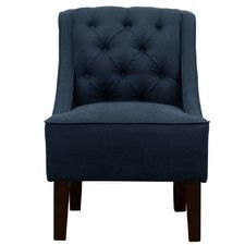 Tufted Swoop Arm Chair