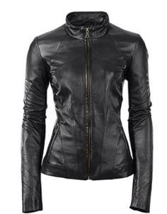 Sexy lamb leather jacket