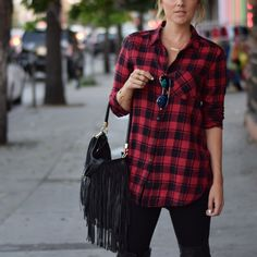 Street Chic on a Budget! — Flannel under $50 and sunnies under $10! www.AliLuvs.com