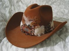 DOBBS 3X Beaver Western Cowboy Hat Brown Feathers   http://ajunkeeshoppe.webstore.com/