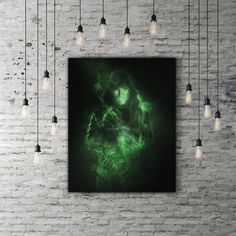Green Arrow Poster, DC Comics Superhero Room Decor, Movie Poster, Arrow Print, Archer Oliver Queen Poster, Smoke Art, DC Poster, Black Decor by PRINTANDPROUD on Etsy