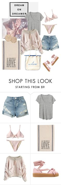 """""""Take me to the nearest water..........."""" by style-stories ❤ liked on Polyvore featuring Twenty, 3x1, Gap, Chicwish and Puma"""