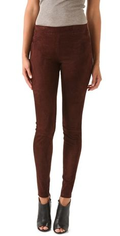 burgundy Vince Suede Leggings - would be cute for Fall