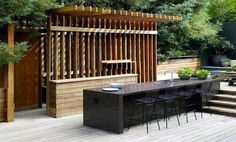 4 Inspiring Outdoor Kitchens - great pergola-like kitchen. Great addition for any #Tulsa home outdoor environment. #outdoorkitchens