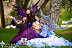 Indigo and Lavender 08 by on DeviantArt Woodland Fairy Costume, Fairy Costumes, Elves And Fairies, Dreams And Nightmares, Dark Elf, Fairy Princesses, Faeries, Masquerade, Mythology