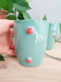 Red flowers on my coffee mug 🌹 Greek Sea, Greek Blue, Porcelain Dinnerware, Pink Daisy, Porcelain Jewelry, Touch Of Gold, Stoneware Clay, My Coffee, Red Flowers